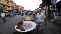 Street food of Mumbai Stock Footage