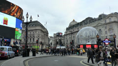Piccadilly Circus, London, UK. Stock Footage