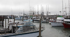 UHD 4K Boats Fisherman's Wharf, San Francisco, Yachts Docking at Pier 39 Marina Stock Footage