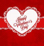 happy valentine's day - stock illustration