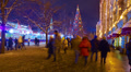 4K+ 4096x2304 Moscow, Red Square at Christmas/New Year time. Chrismas fair. Time 4k or 4k+ Resolution