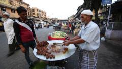 Street food of Mumbai, India Stock Footage
