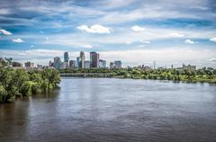 view of downtown minneapolis - stock photo