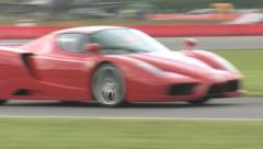 Ferrari Enzo on track Stock Footage