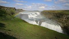 Gullfoss in Iceland Stock Footage