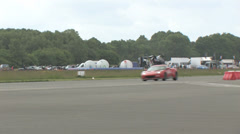 Lotus Evora on track Stock Footage