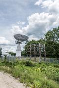radar station during sunny day - stock photo