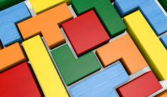 Stock Illustration of wooden block puzzle