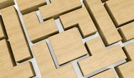 Wooden block puzzle Stock Illustration