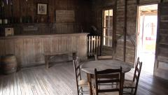 Judge Roy Bean's Jersey Lilly Saloon, Langtry, Texas Stock Footage