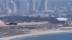 Military Naval Helicopter - Sikorsky - San Diego Stock Footage