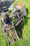 Tools, hammer and anvil Stock Photos