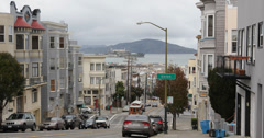 Ultra HD 4K San Francisco Tram Trip Trolley Cable Car Fisherman's Wharf Busy Stock Footage