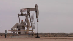 Texas Oil Pumping Well Stock Footage