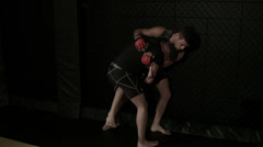 Mixed Martial Arts - Boxing - Wrestling - Sparring - stock footage