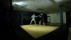 Mixed Martial Arts - Boxing - Wrestling - Sparring Stock Footage