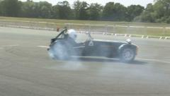 Caterham Drifting 1 Stock Footage