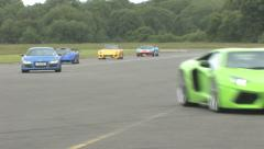Hypercars on track Stock Footage