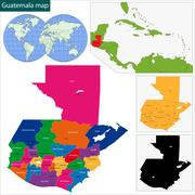 Guatemala map Stock Illustration