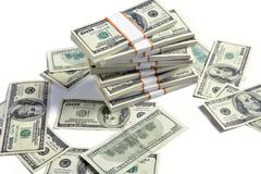 Stacks of american dollars Stock Photos