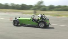 Caterham Seven autotest - stock footage