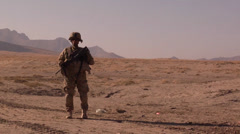 A soldier from a  Command Security Team in Afghanistan Stock Footage