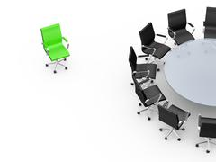Stock Illustration of conference table with copy space