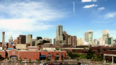 Downtown Denver and Auraria Campus Stock Footage