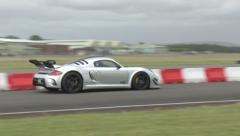 Porsche RUF on track Stock Footage