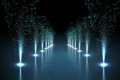 Cool nightlife lights - stock illustration