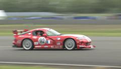 Dodge Viper on track Stock Footage