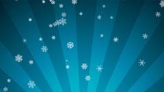 Ornamental Snow on Light Blue Radial Loop Stock Footage