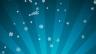 Stock Video Footage of Ornamental Snow on Light Blue Radial Loop