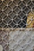 Rusty door circles motif Stock Photos