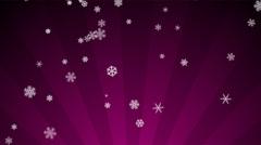 Ornamental Snow on Magenta Radial Loop Stock Footage