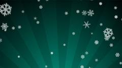 Ornamental Snow on Teal Radial Loop Stock Footage