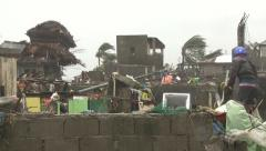 Destruction In Aftermath Of Super Typhoon Haiyan Stock Footage