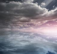 Stock Illustration of Heavenly water and sky