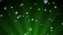 Ornamental Snow on Green Radial Loop Stock Footage