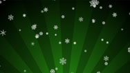 Stock Video Footage of Ornamental Snow on Green Radial Loop