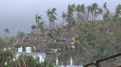 Extreme Hurricane Wind Damage Tacloban Typhoon Haiyan Stock Footage