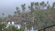 Stock Video Footage of Extreme Hurricane Wind Damage Tacloban Typhoon Haiyan