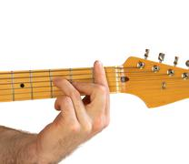 guitar f chord - stock photo