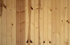 vertical knotty pine boards - stock photo
