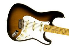 electric guitar body isolated - stock photo