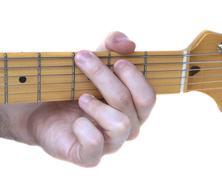 G major guitar chord Stock Photos