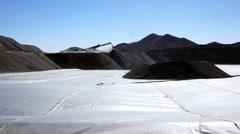 Mining Heap Leach Pad Stock Footage