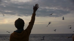 stock footage meditation on the shore of Lake Baikal - stock footage