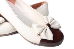 children's summer footwear for the girl - stock photo