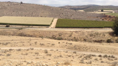Panoramic View of the Biblical Site of Azeka, Holy Land, Israel Stock Footage